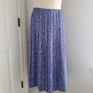 Vintage Leslie Fay Geo Print Maxi Skirt